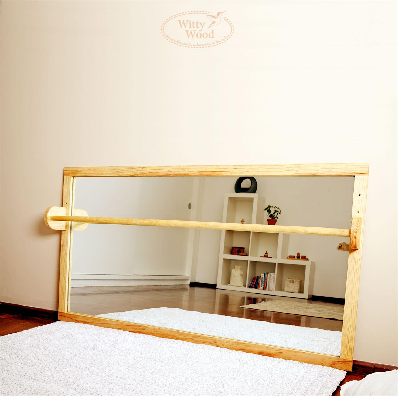 Espejo tipo montessori con barra for Espejo y barra montessori