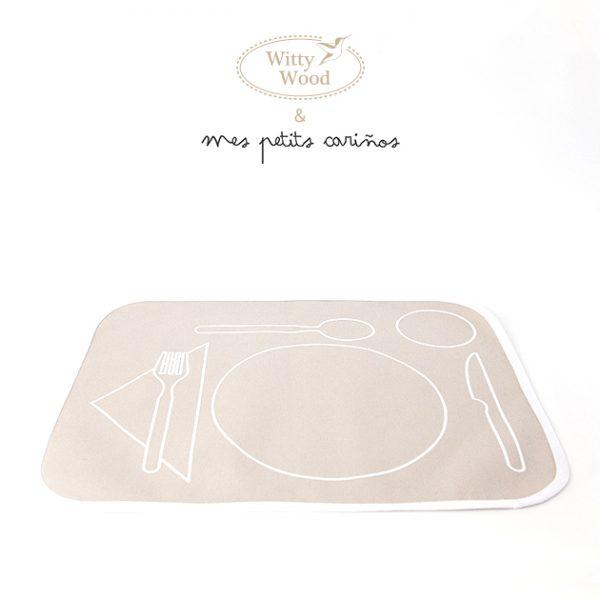 Mantel-Montessori-Vida-Practica-Algodón-Cubiertos-Cuchara-Tenedor-Cuchillo-Vaso-Plato-Mexico-Poner-Mesa-Mexico-Beige